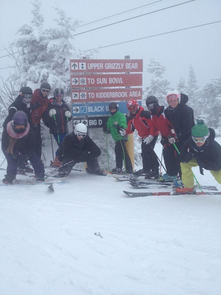 ski team, snowy day