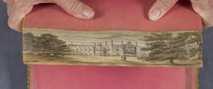 fore-edge painting looking like Strawberry Hill
