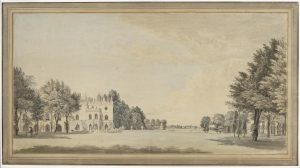 Sandby South Front of Strawberry Hill watercolor drawing