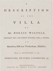 Description of the Villa title page