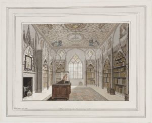 Carter's watercolor of the Library at Strawberry Hill
