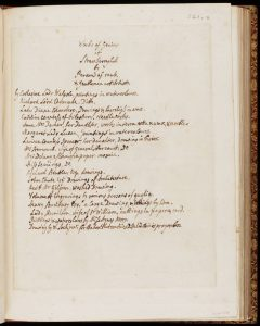 Manuscript list of Works of Genius