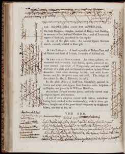 page of text heavily annotated in manuscript