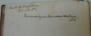 ownership inscriptions -- HW and Knowsley