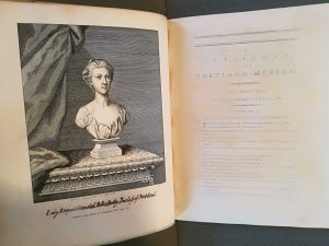 Image of Fig. 3 – Rysbrack's bust of the duchess of Portland, engraved by Humphreys and inserted into Walpole's copy of the Catalogue