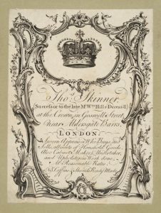Image of Thomas Skinner's Trade Card, date unknown.