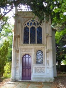 Color Photo of the Chapel in the Woods at Strawberry Hill