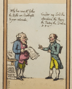 Fragment from Rowlandson's Grotesque Borders for Rooms & Halls, Thomas Rowlandson Collection (GC112), Graphic Arts Collection, Department of Rare Books and Special Collections, Princeton University Library.