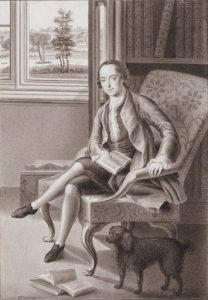 Portrait of Horace Walpole in his Library