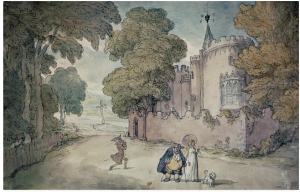 Drawing by Rowlandson [Strawberry Hill from the West]