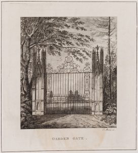 "Garden gate print from the ""Description of the Villa"""