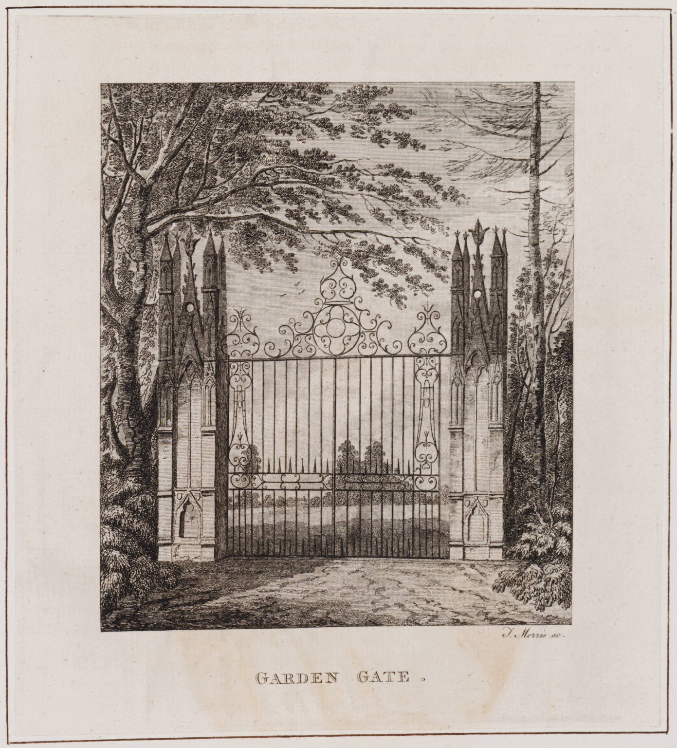 Strawberry Hill Horace Walpole At 300 Rise Bed Cover Angry Birds Double Size 240 X 220 Cm Garden Gate Print From The Description Of Villa