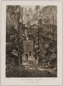 View of the Chapel in the Garden at Strawberry Hill, uncolored print