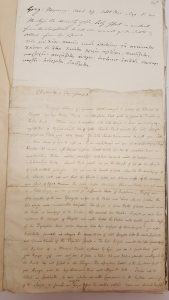 A page from the MSS and letters that belonged to Thomas Tyrwhitt