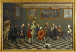 A party at Sir Horace Mann's in Florence showing a group of men in eighteenth-century dress