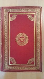 Red and gilt cover of book