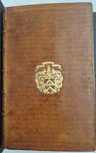 Cover of Tracts of Geo 3, in calf with Walpole's arms