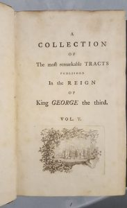 title page of the Tracts of George 3