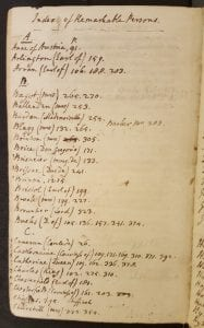 First page of manuscript index to 49 2389