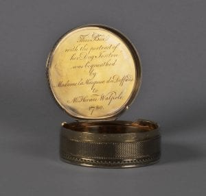 image showing inscription inside snuffbox