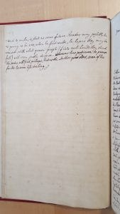 "Manuscript of ""Advertisement"" page two in first Mann correspondence volume by Walpole"