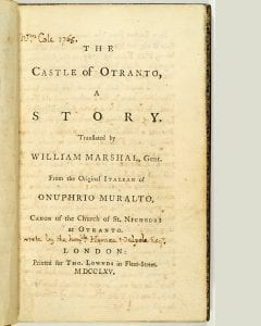 photo of a title pge of a book with manuscript notes in a neat printed hand