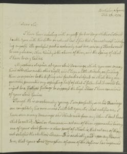 Image of a manuscript letter in 18th century cursive hand
