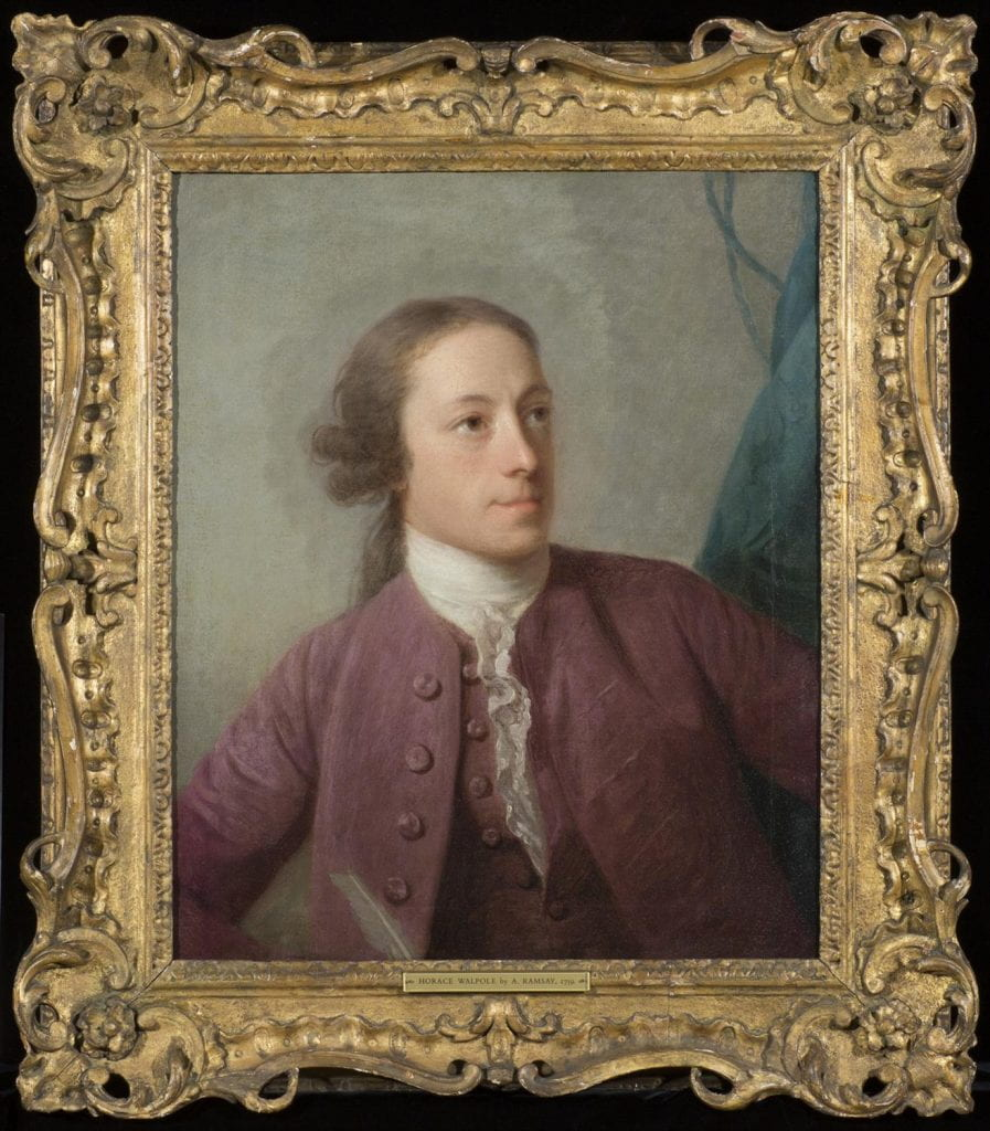 portrait of a young Horace Walpole