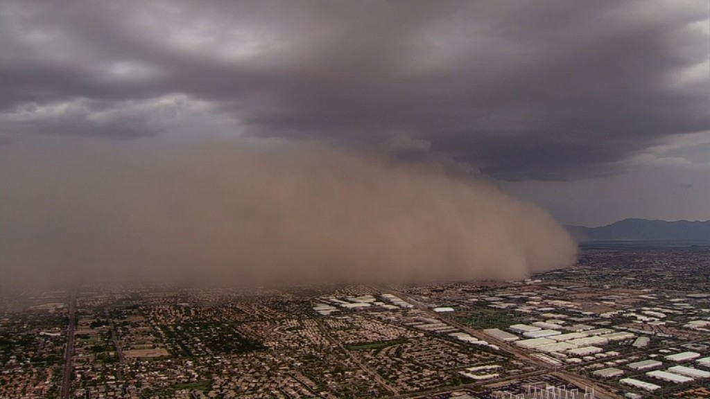 Monsoon dust storm