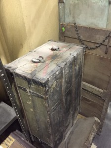 An old steamer trunk.