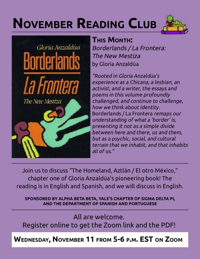 Poster for November Reading Club