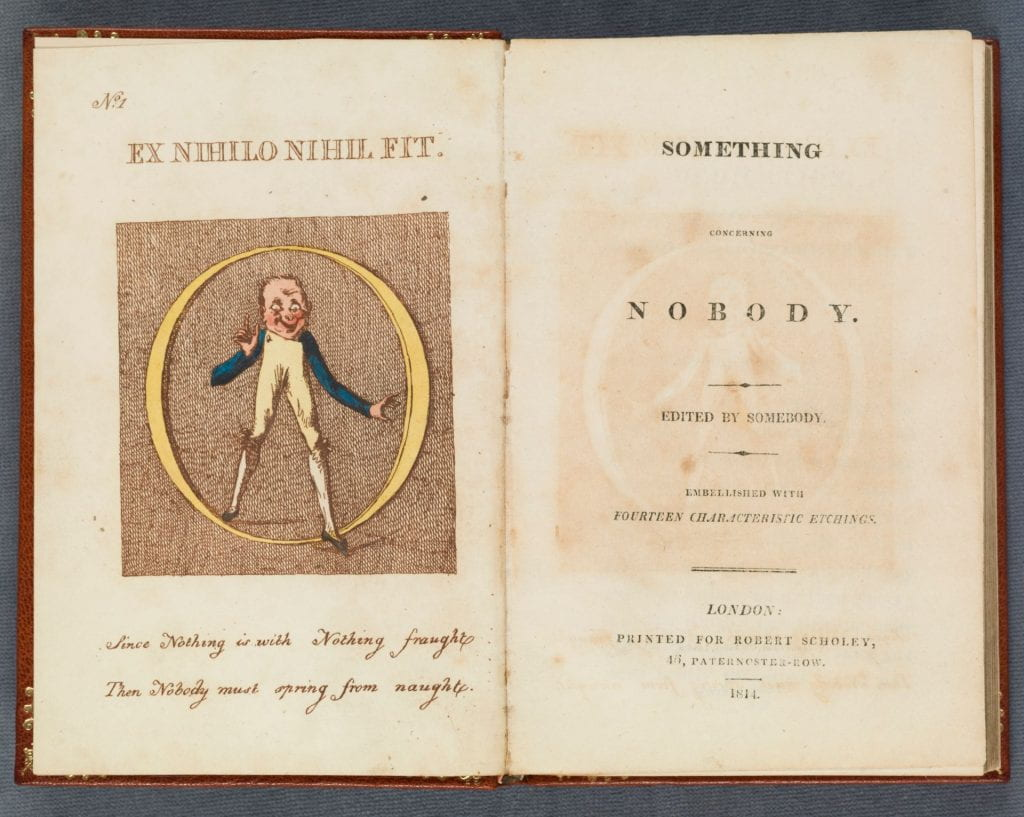 Something concerning Nobody title page