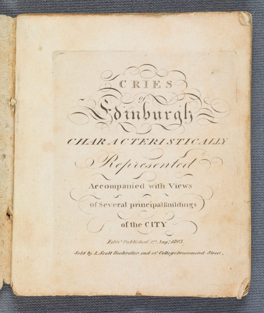 Cries of Edinburgh title page