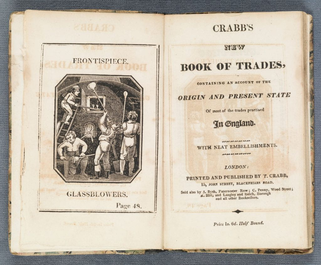 Crabb's new book of trades title page