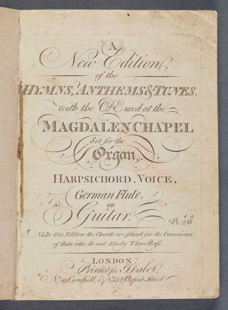 A new edition of the hymns title page