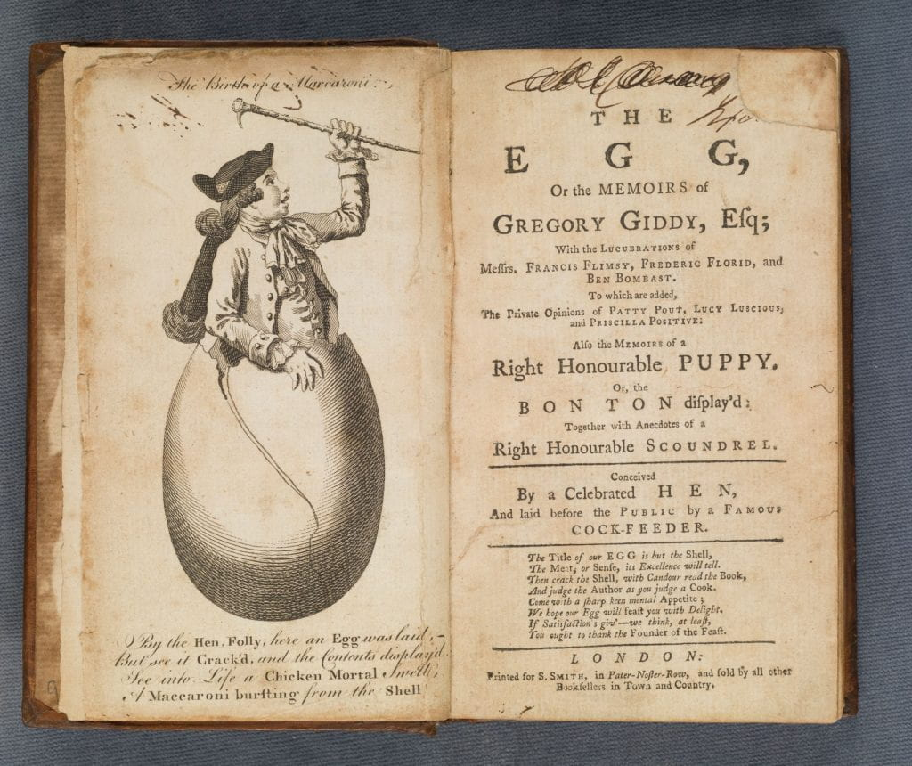 The egg title page