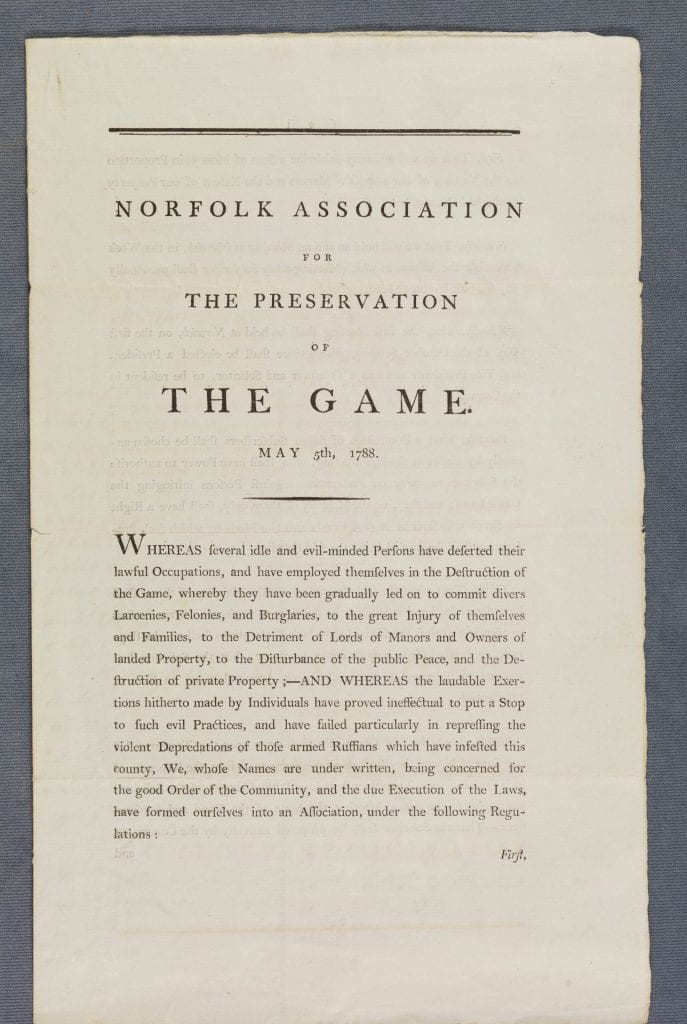 Norfolk Association for the preservation of the game