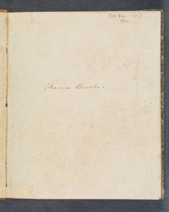 Frances Brooke journal. Detailed description below