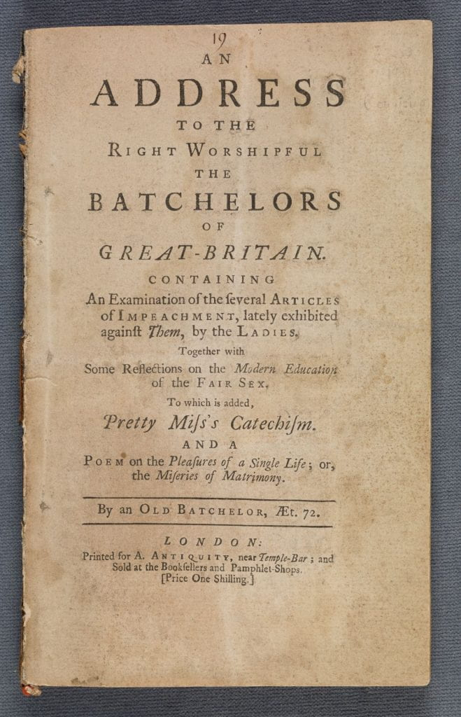 An address to the right worshipful the batchelors of Great-Britain cover