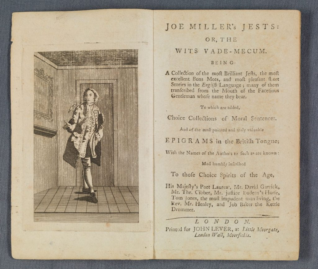 Joe Miller's jests title page