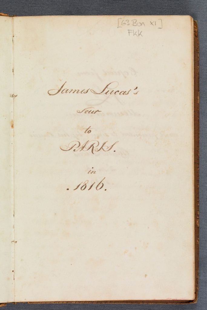 handwritten title page