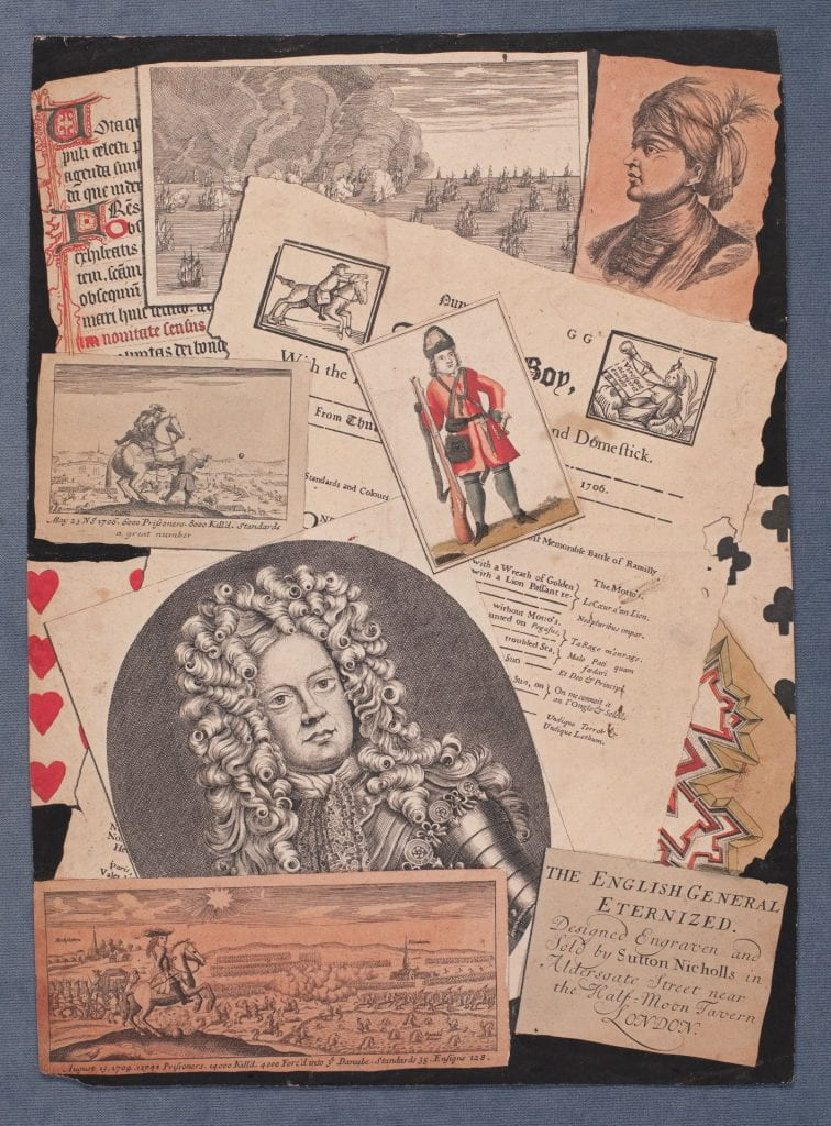 collage of letters and prints