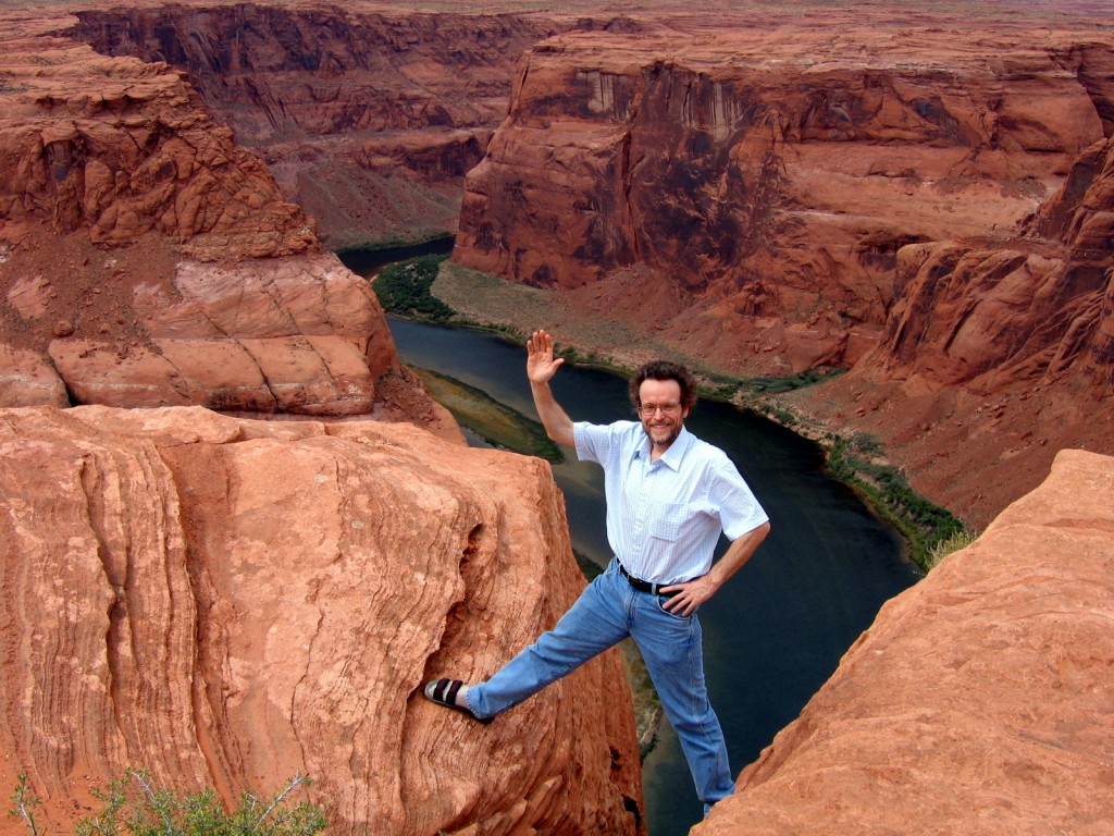 Prof. Pogge posing with canyon in background