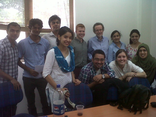 Prof. Pogge with group in Delhi