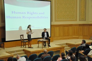 "Conferința ""Human Rights and Human Responsibilities"" susținută de Prof. Thomas Pogge,  luni 25 mai 2015, Universitatea din București."