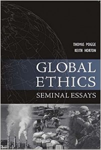"Book Cover of ""Global Ethics: Seminal Essays"""