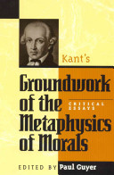 "Book Cover of ""Kant's Groundwork of the Metaphysics of Morals"""
