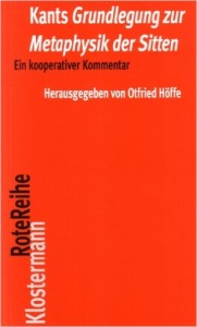 """Book Cover of """"Grundlegung zur Metaphysik der Sitten. Ein kooperativer Kommentar"""""""