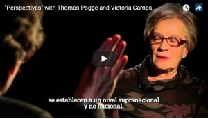 Thomas Pogge, profesor de Filosofía de la Universidad de Yale, y Victòria Camps, presidenta de la Fundación Víctor Grífols i Lucas, hablan sobre la pobreza