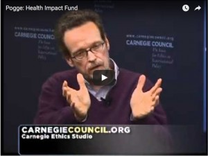 "Health Impact Fund: video highlight of Carnegie Council's ""ETHICS MATTER: A Conversation with Thomas Pogge"""